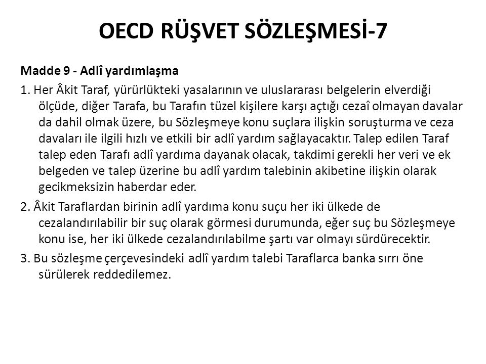 OECD RÜŞVET SÖZLEŞMESİ-7
