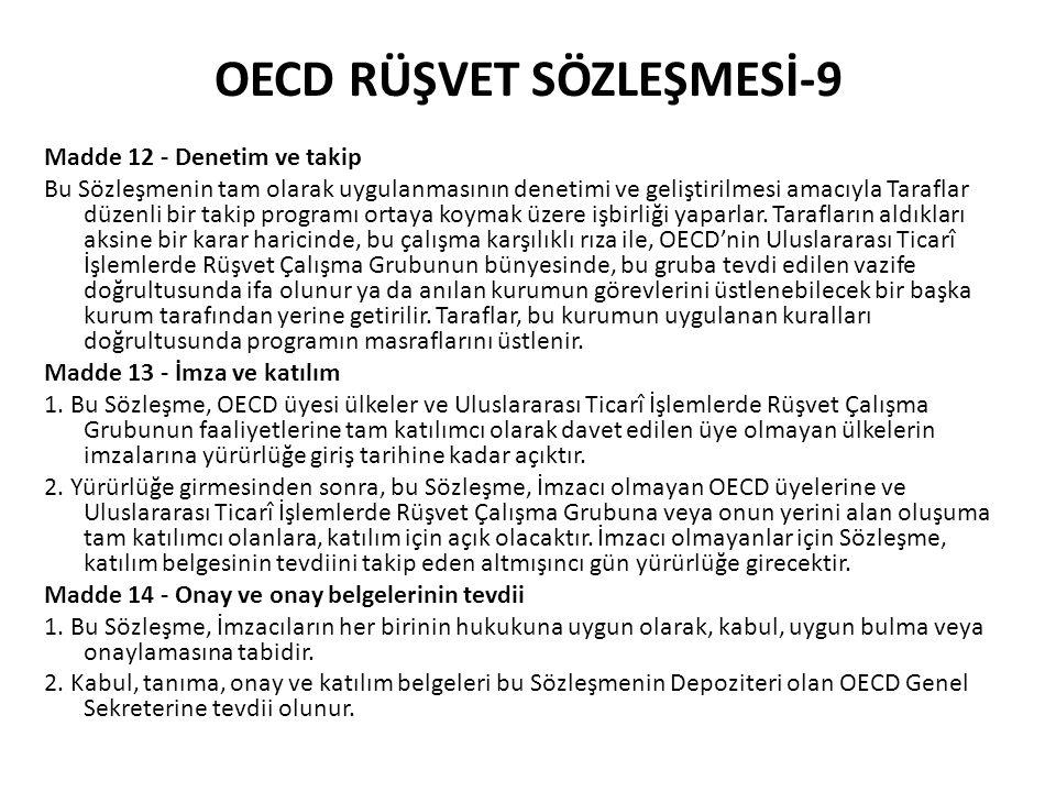OECD RÜŞVET SÖZLEŞMESİ-9
