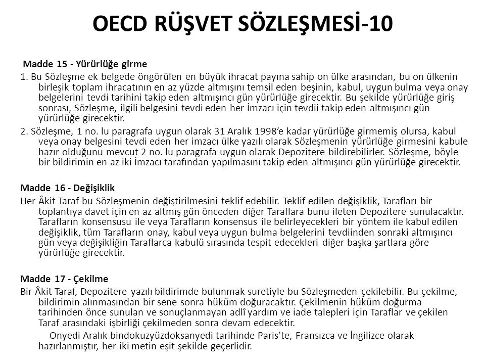 OECD RÜŞVET SÖZLEŞMESİ-10