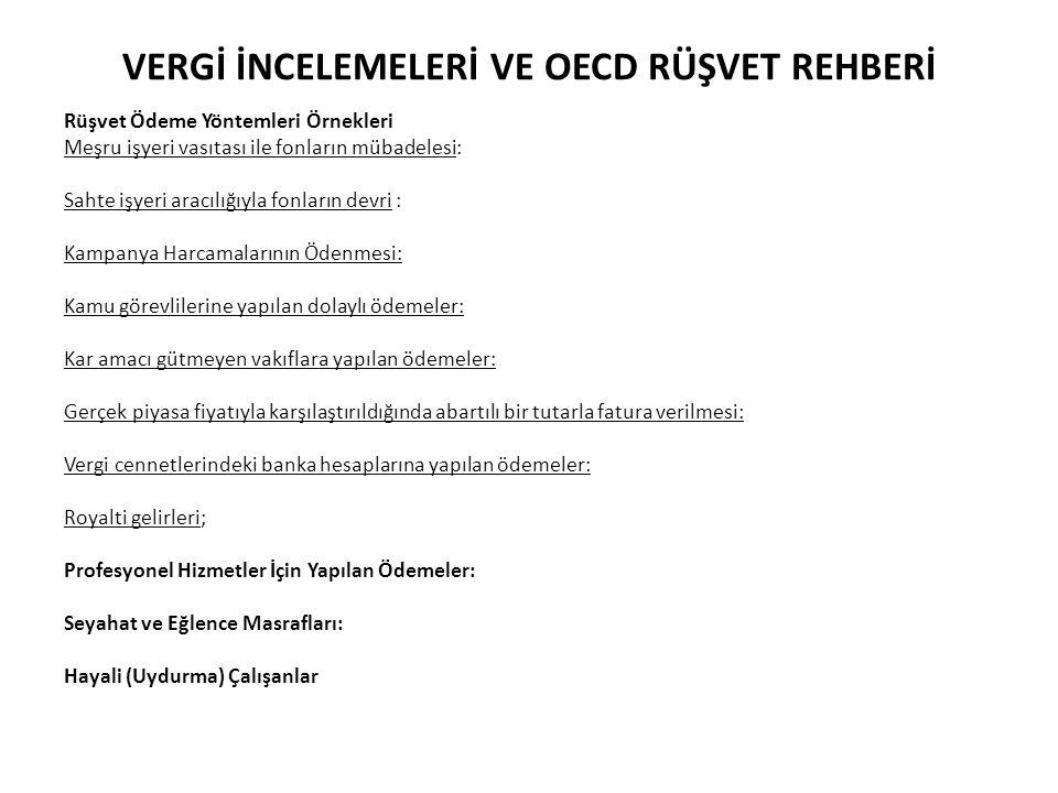 VERGİ İNCELEMELERİ VE OECD RÜŞVET REHBERİ