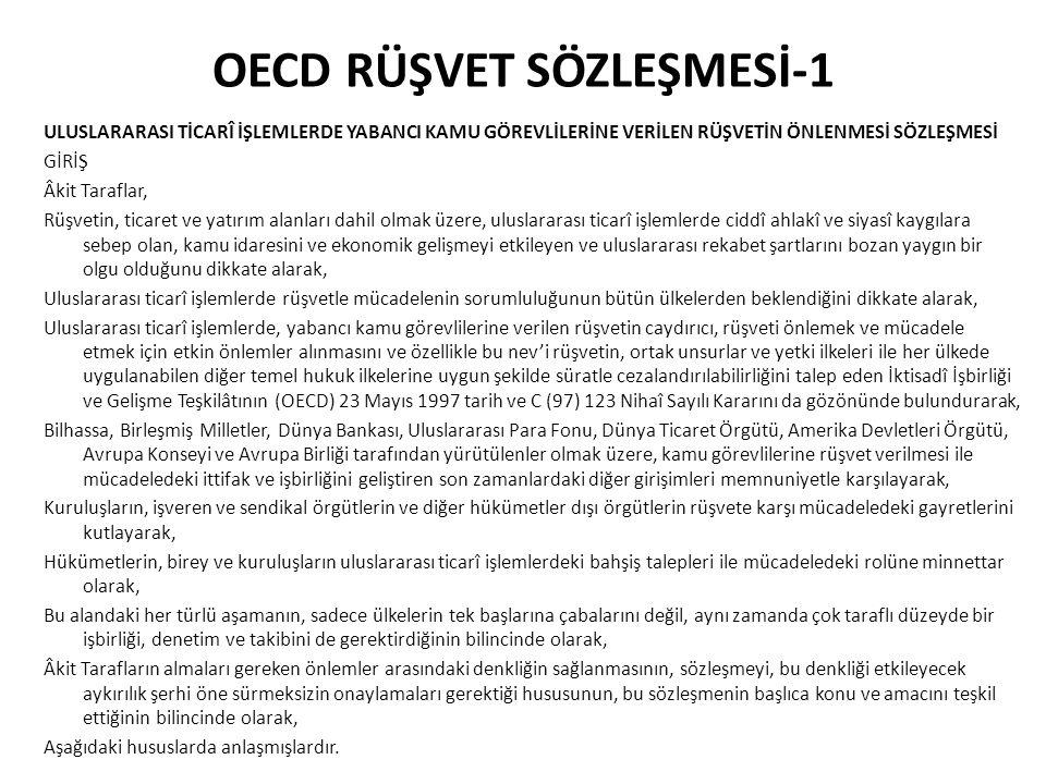 OECD RÜŞVET SÖZLEŞMESİ-1
