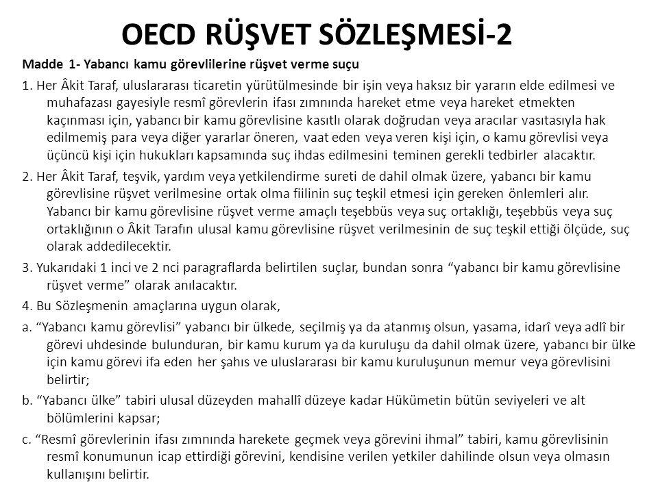 OECD RÜŞVET SÖZLEŞMESİ-2