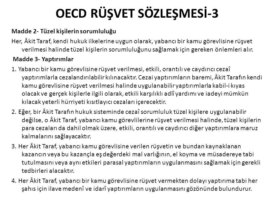 OECD RÜŞVET SÖZLEŞMESİ-3