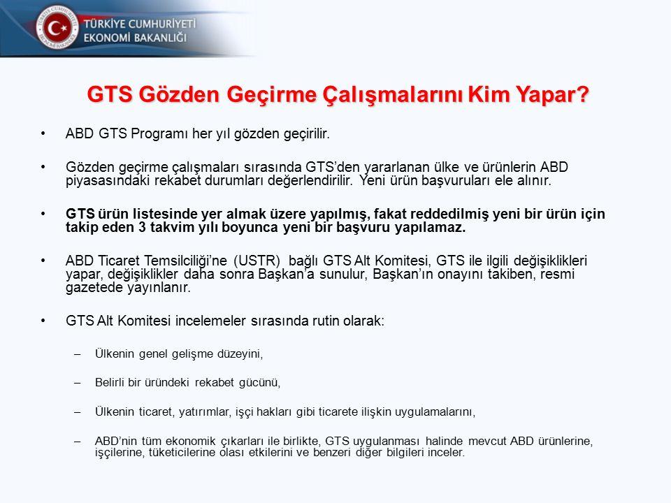 GTS Gözden Geçirme Çalışmalarını Kim Yapar