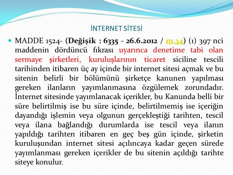 İNTERNET SİTESİ