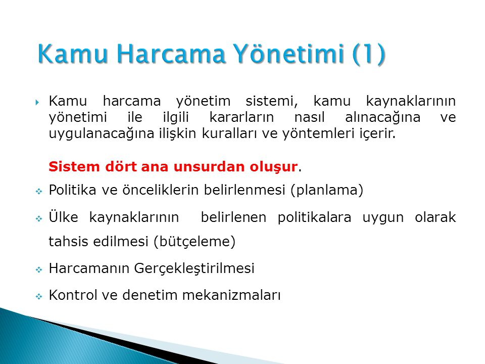 Kamu Harcama Yönetimi (1)