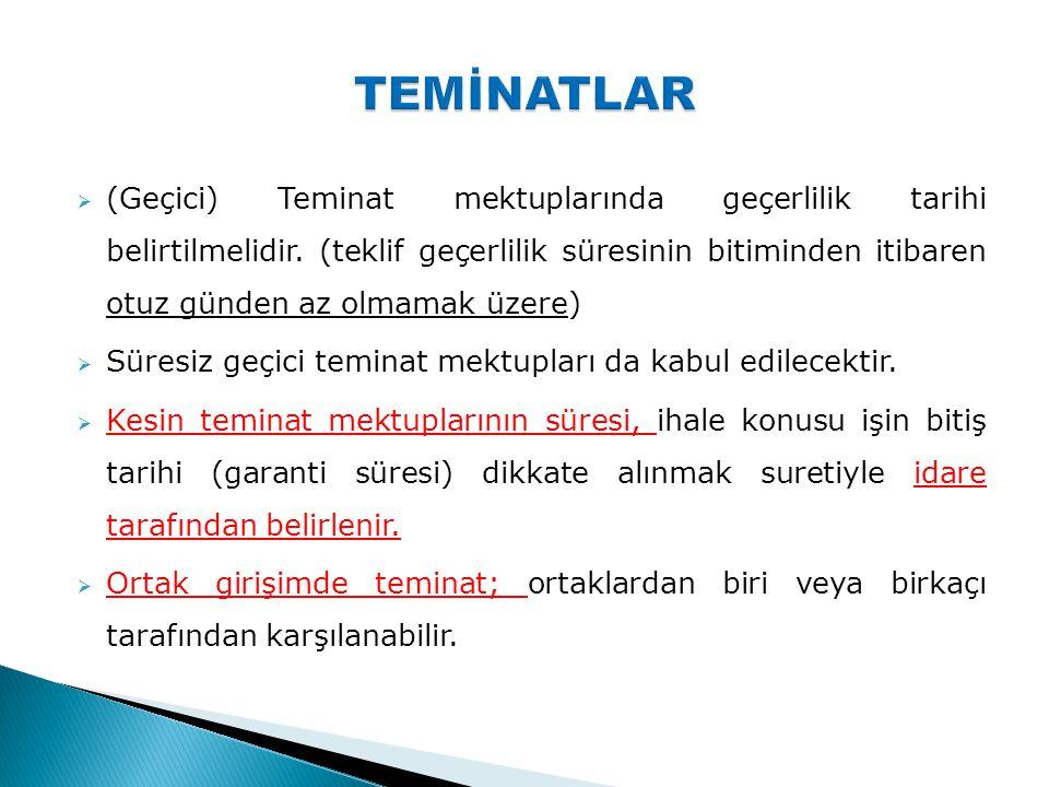 TEMİNATLAR