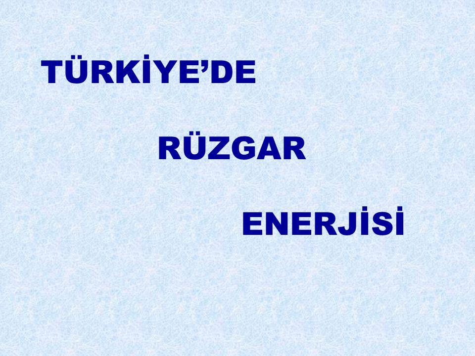 TÜRKİYE'DE RÜZGAR ENERJİSİ