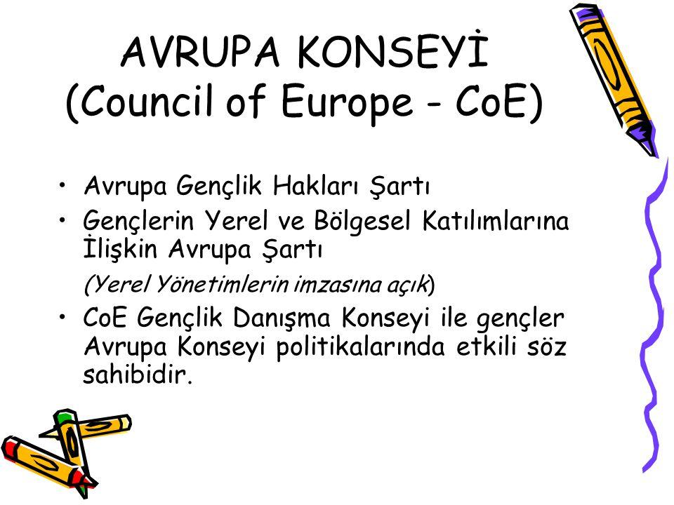 AVRUPA KONSEYİ (Council of Europe - CoE)