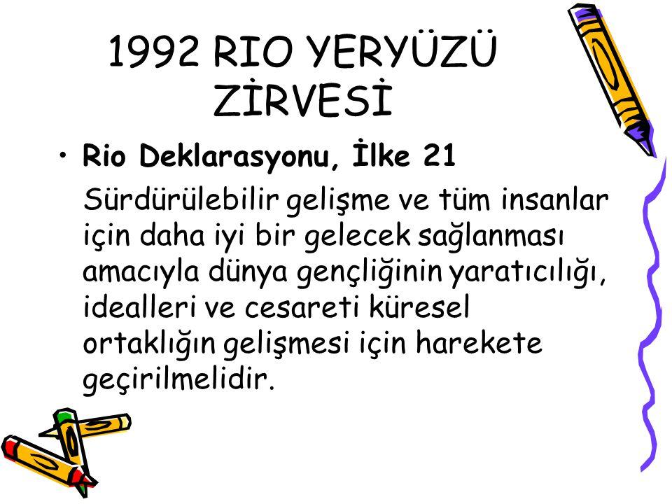 1992 RIO YERYÜZÜ ZİRVESİ Rio Deklarasyonu, İlke 21