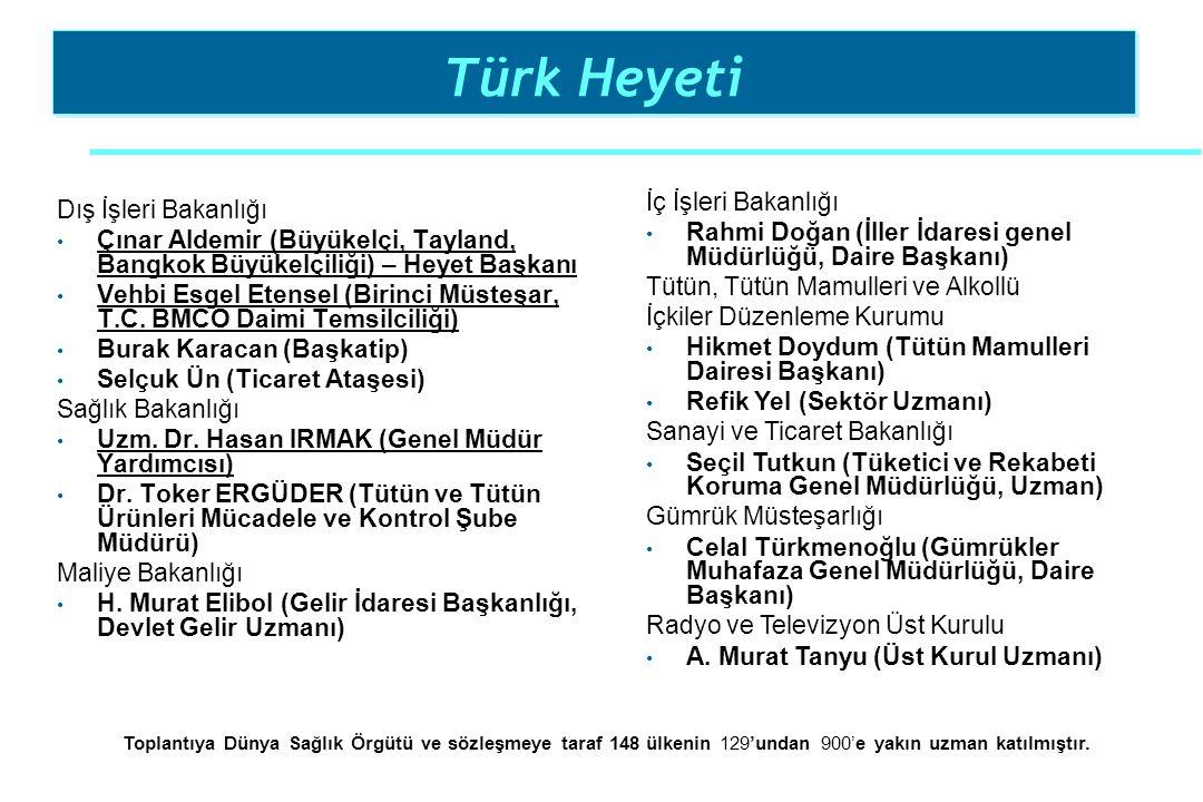 Türk Heyeti İç İşleri Bakanlığı Dış İşleri Bakanlığı