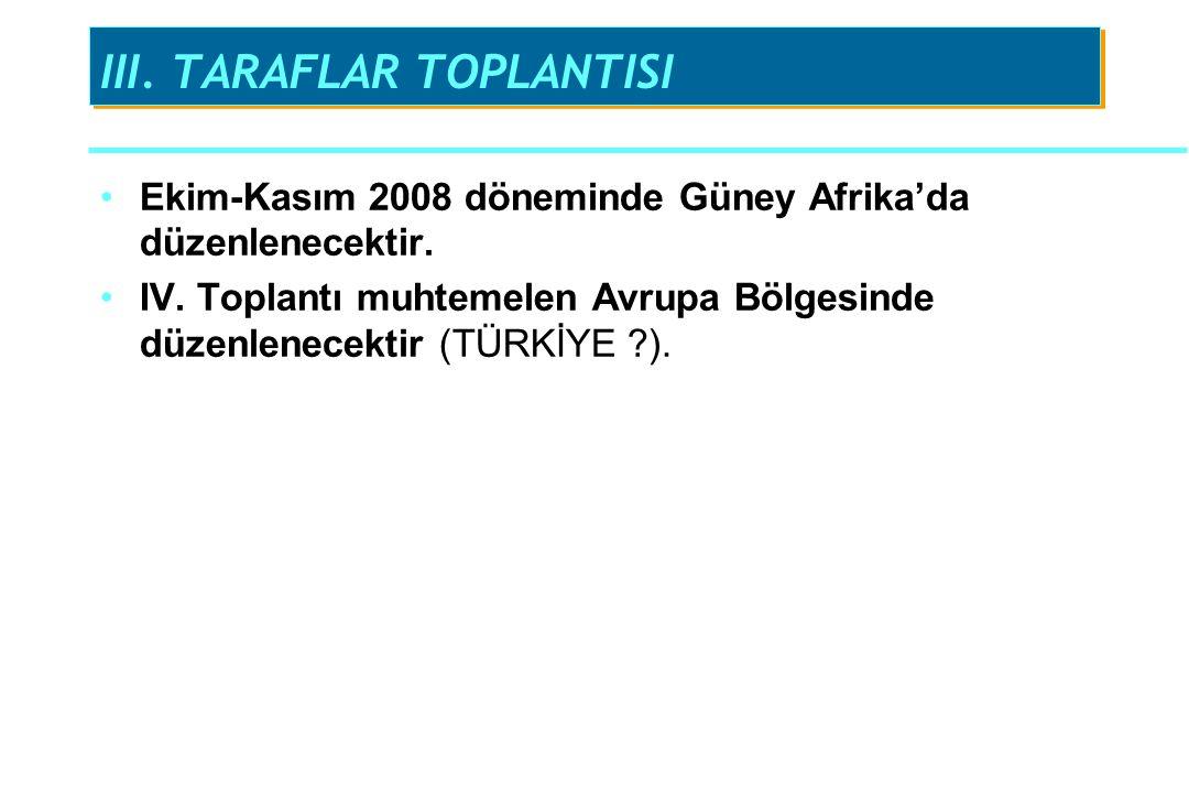 III. TARAFLAR TOPLANTISI