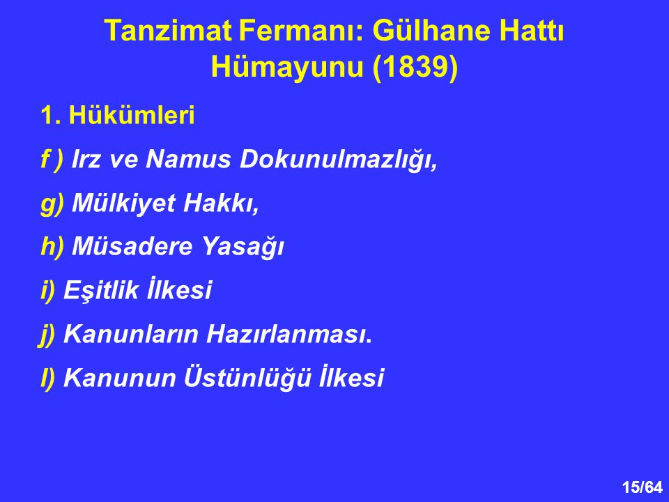 Tanzimat Fermanı: Gülhane Hattı Hümayunu (1839)