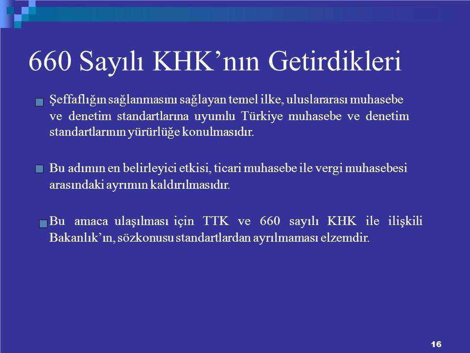 660 Sayılı KHK'nın Getirdikleri