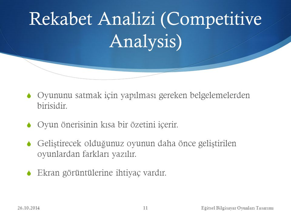 Rekabet Analizi (Competitive Analysis)