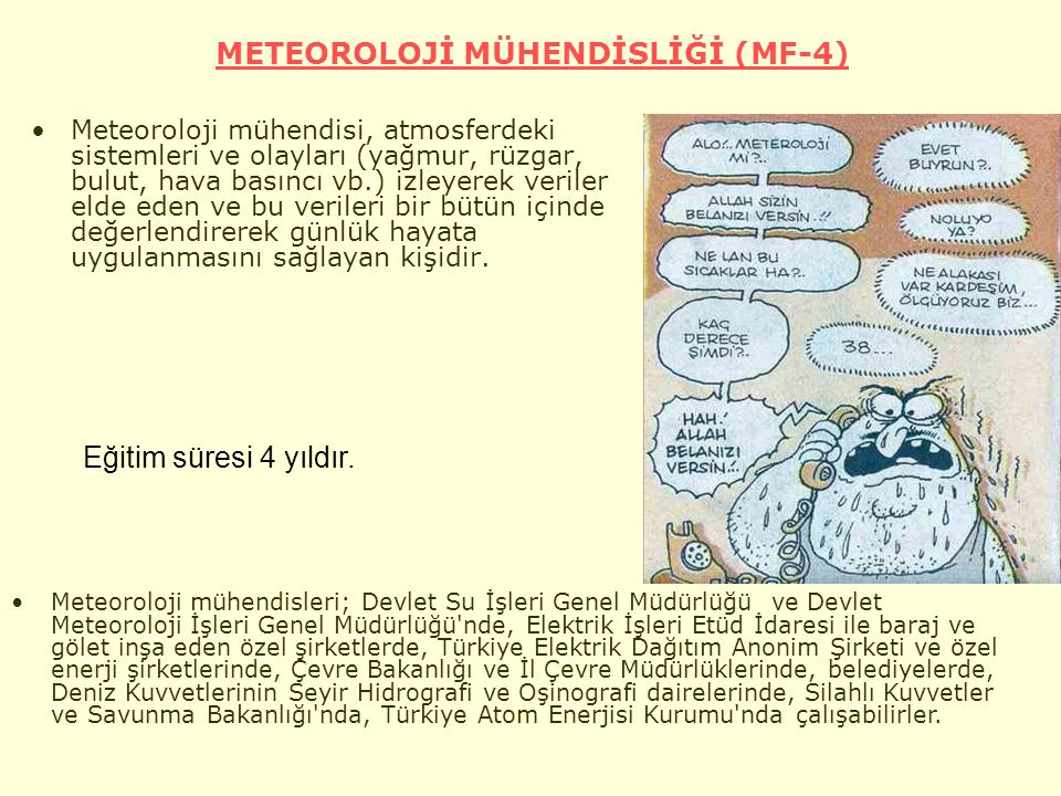 METEOROLOJİ MÜHENDİSLİĞİ (MF-4)