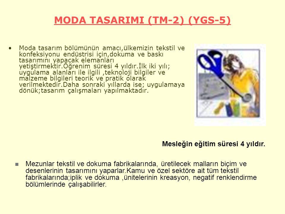 MODA TASARIMI (TM-2) (YGS-5)