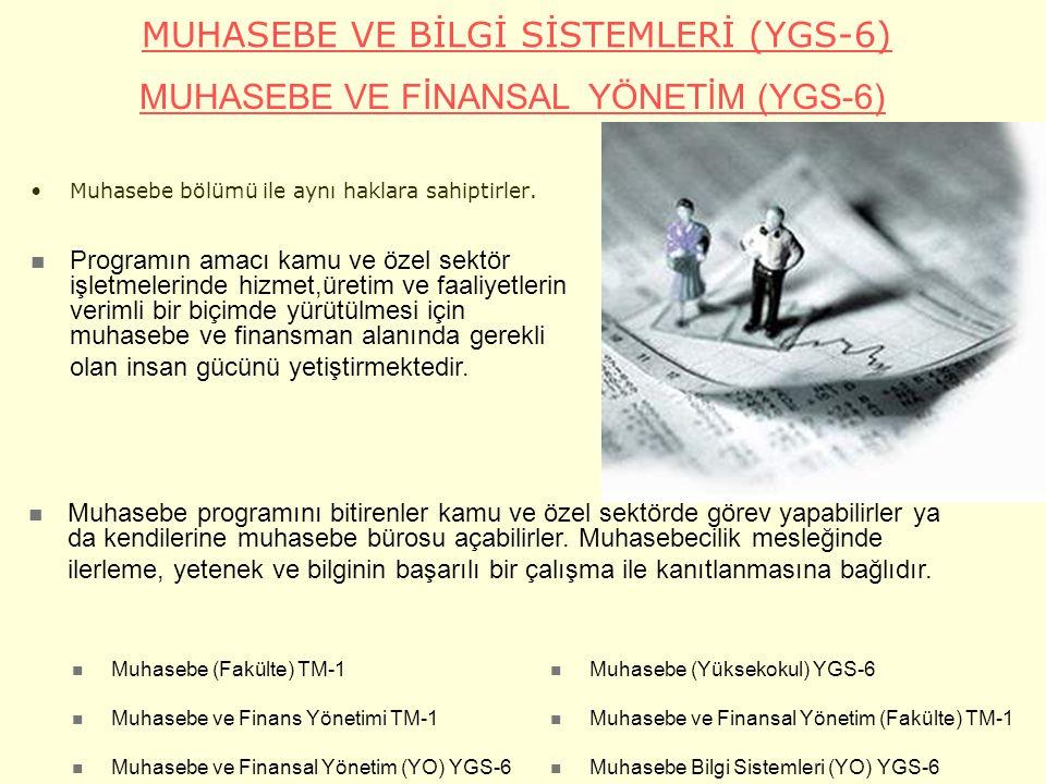 MUHASEBE VE BİLGİ SİSTEMLERİ (YGS-6)