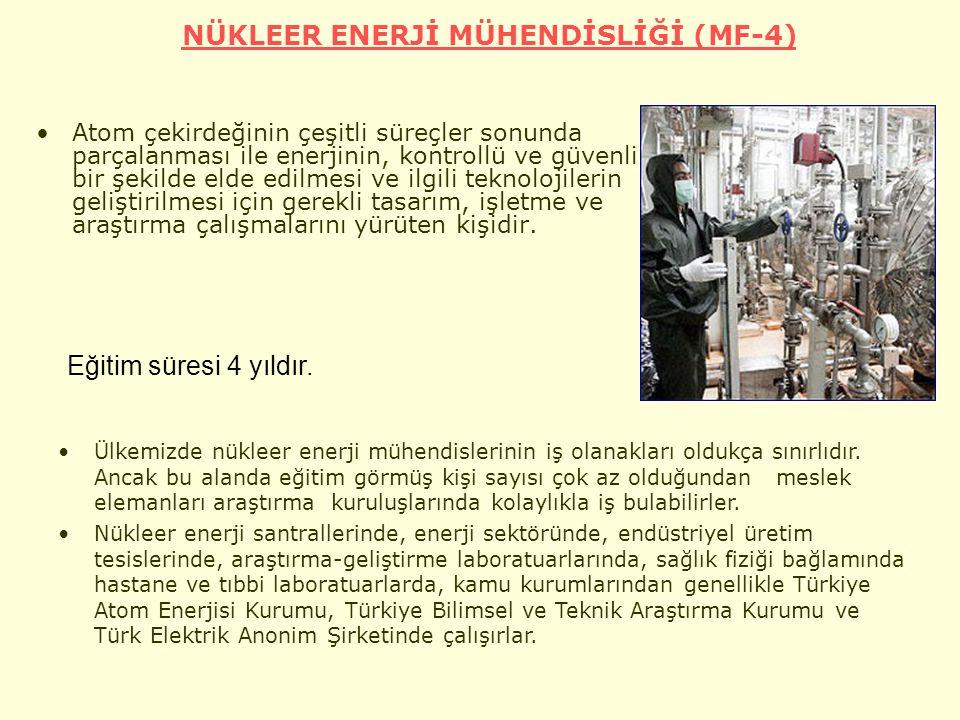 NÜKLEER ENERJİ MÜHENDİSLİĞİ (MF-4)