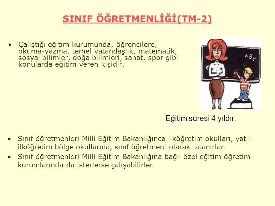 SINIF ÖĞRETMENLİĞİ(TM-2)