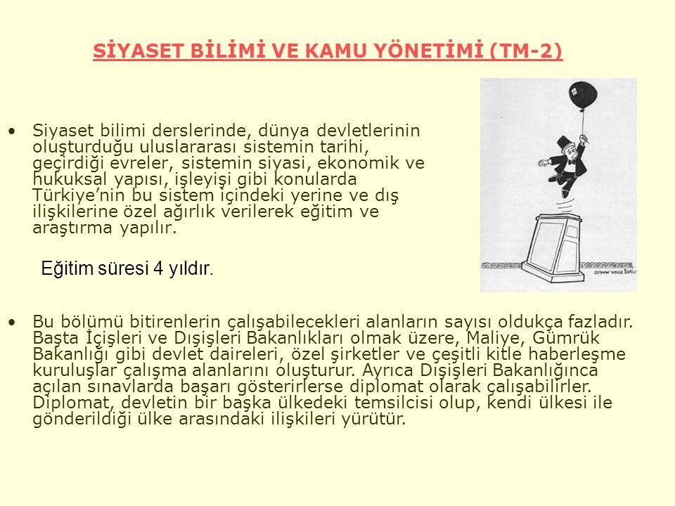 SİYASET BİLİMİ VE KAMU YÖNETİMİ (TM-2)