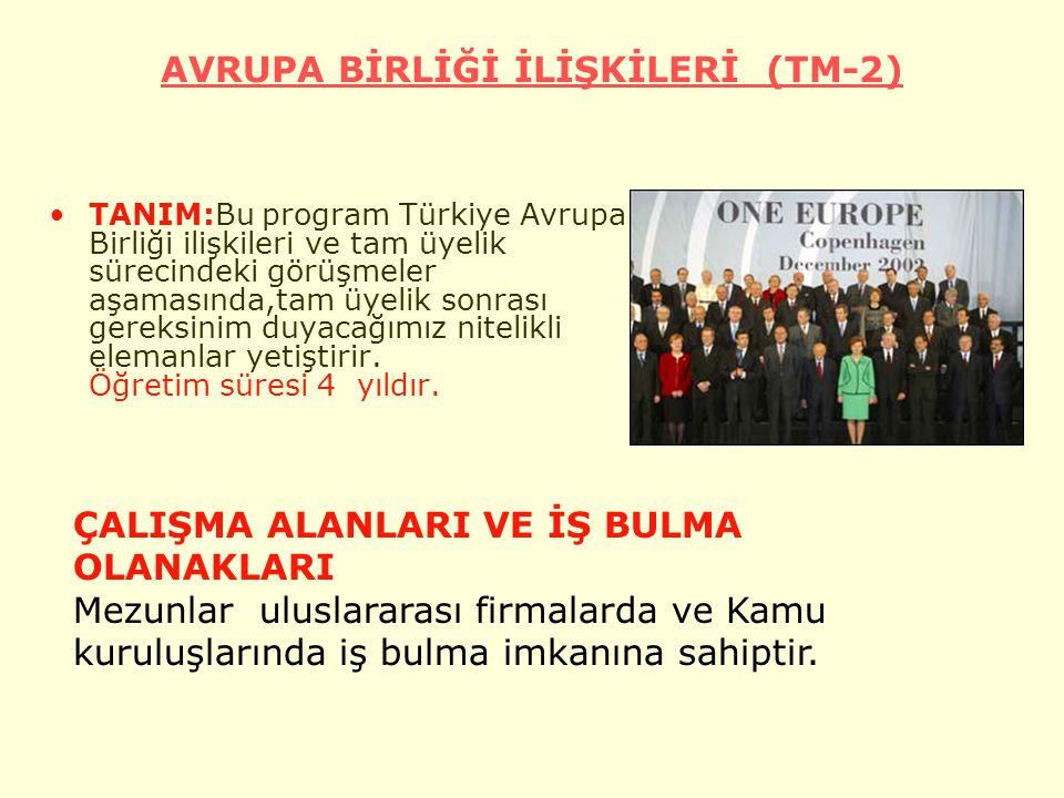 AVRUPA BİRLİĞİ İLİŞKİLERİ (TM-2)
