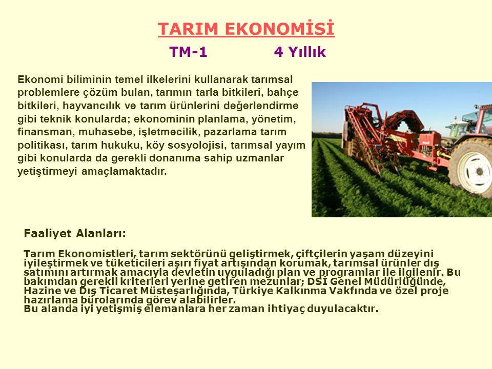 TARIM EKONOMİSİ TM-1 4 Yıllık