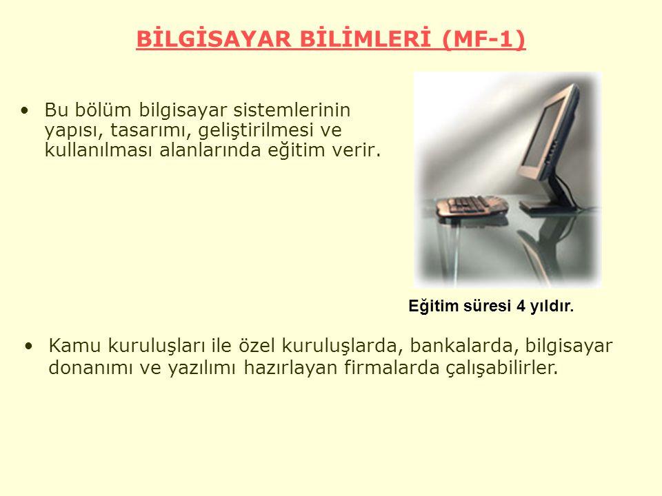 BİLGİSAYAR BİLİMLERİ (MF-1)