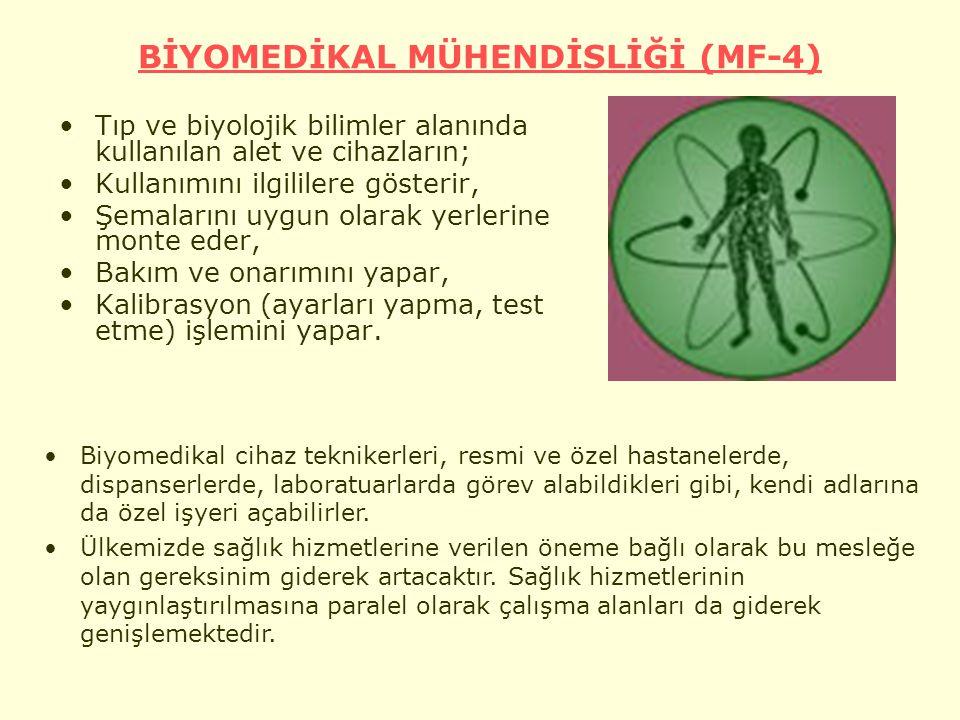BİYOMEDİKAL MÜHENDİSLİĞİ (MF-4)