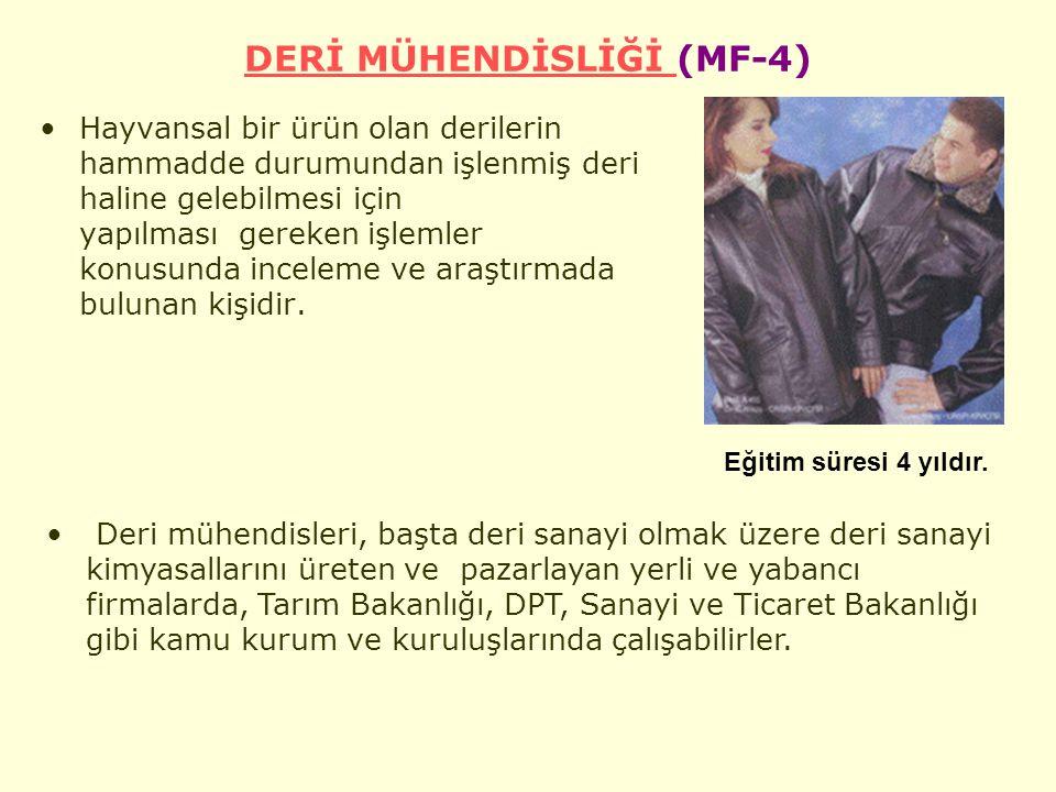 DERİ MÜHENDİSLİĞİ (MF-4)