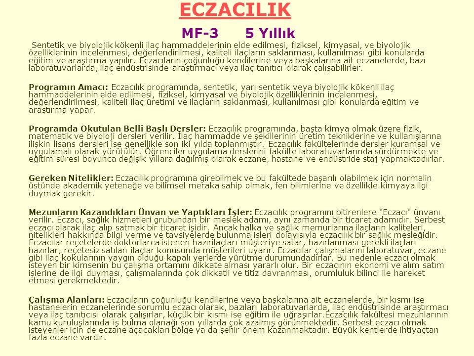 ECZACILIK MF-3 5 Yıllık