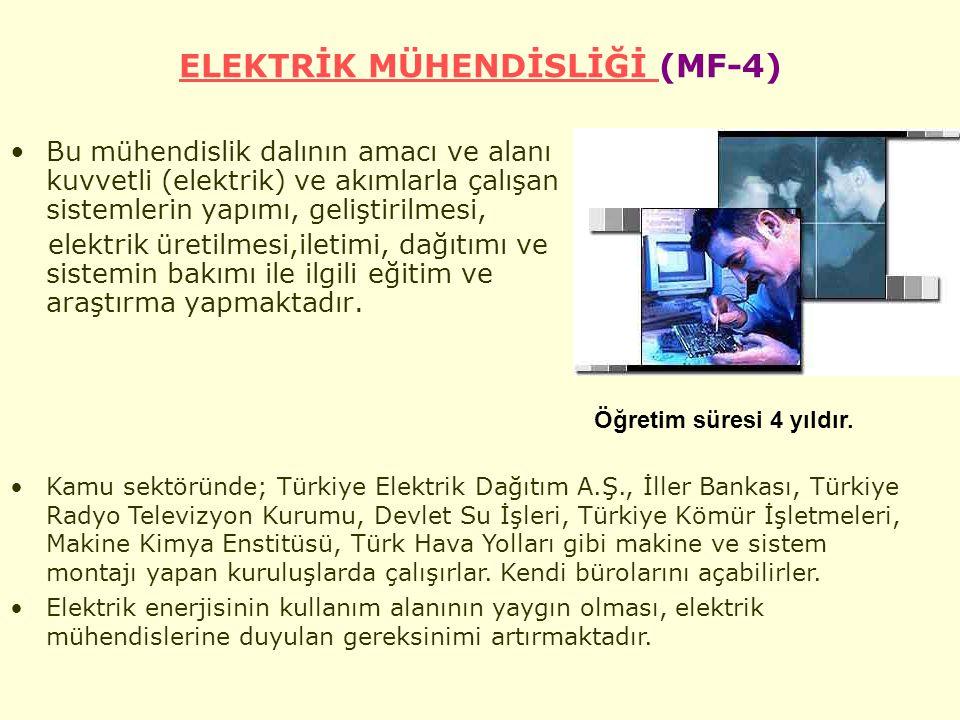 ELEKTRİK MÜHENDİSLİĞİ (MF-4)
