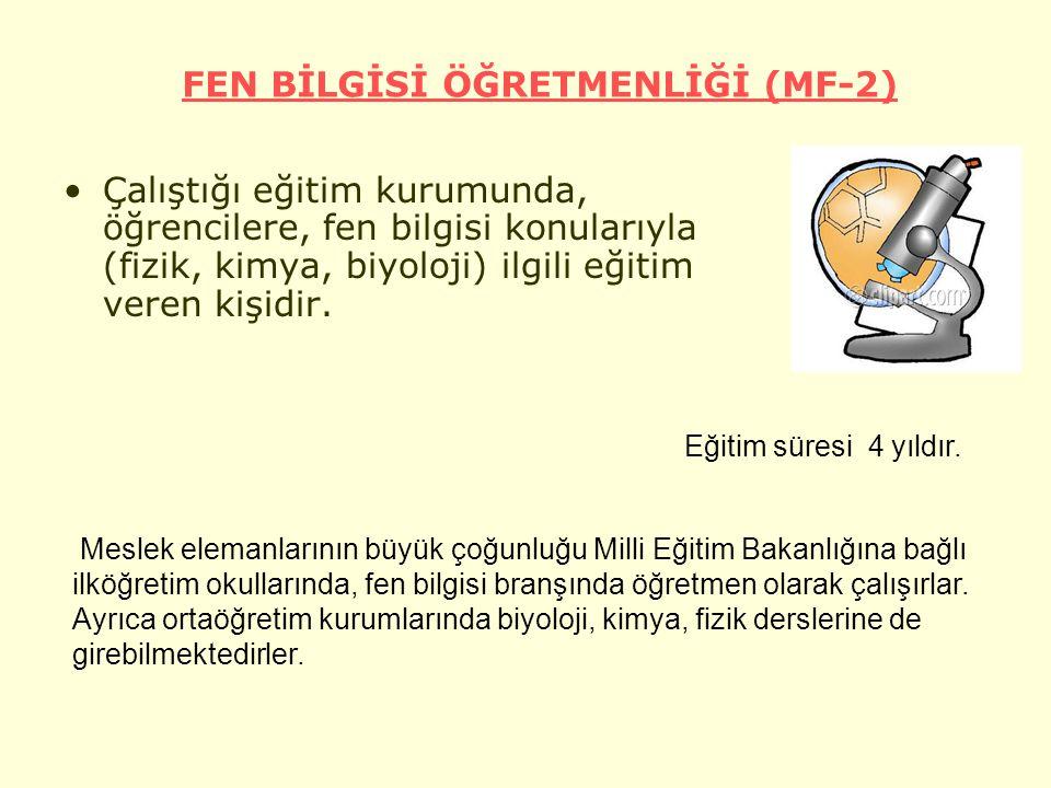 FEN BİLGİSİ ÖĞRETMENLİĞİ (MF-2)