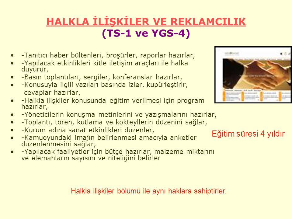 HALKLA İLİŞKİLER VE REKLAMCILIK (TS-1 ve YGS-4)