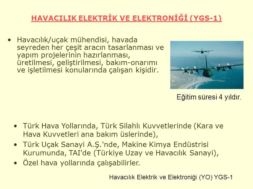 HAVACILIK ELEKTRİK VE ELEKTRONİĞİ (YGS-1)