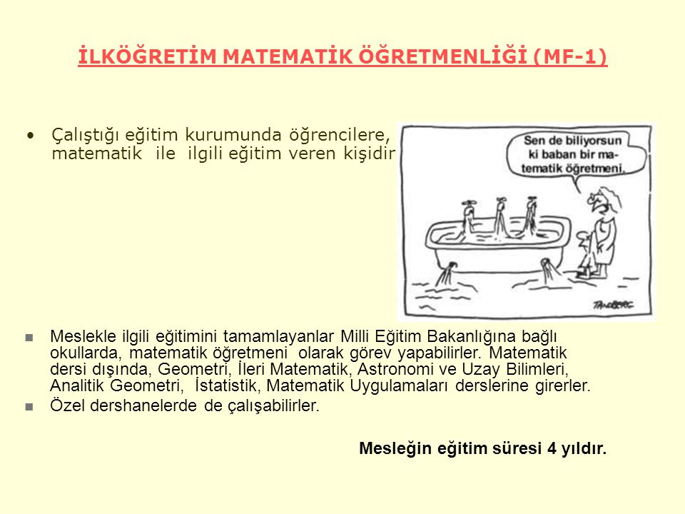 İLKÖĞRETİM MATEMATİK ÖĞRETMENLİĞİ (MF-1)