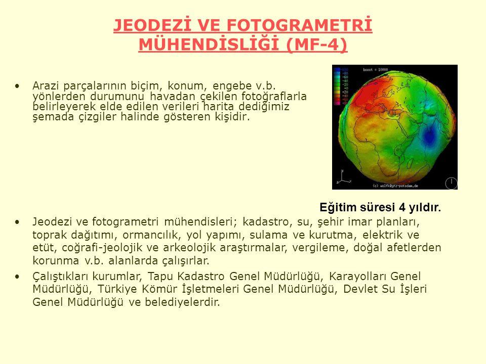 JEODEZİ VE FOTOGRAMETRİ MÜHENDİSLİĞİ (MF-4)