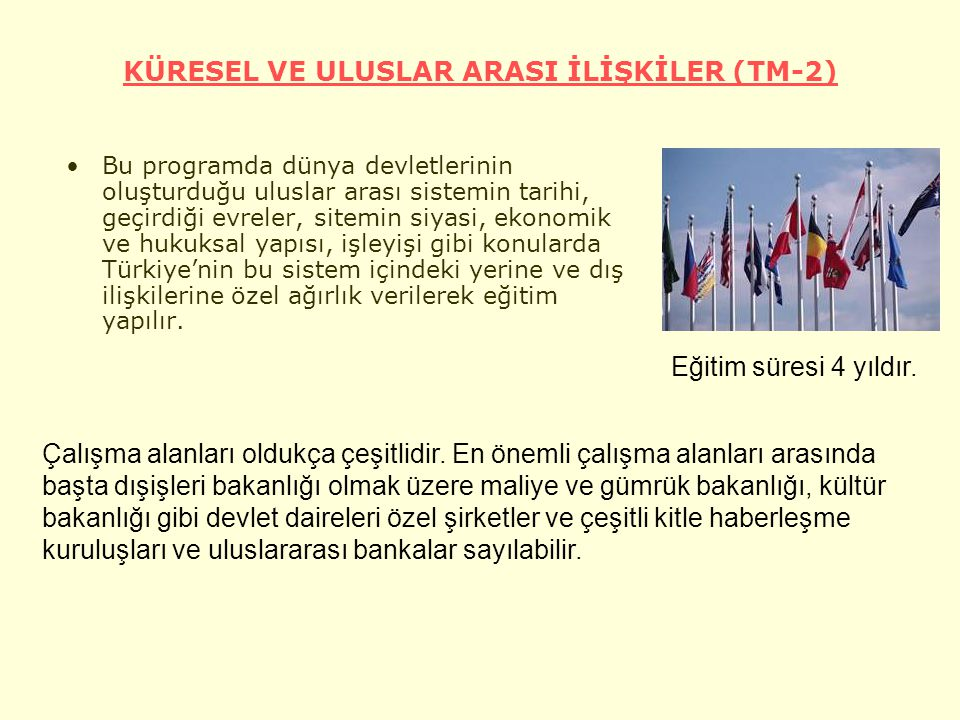 KÜRESEL VE ULUSLAR ARASI İLİŞKİLER (TM-2)