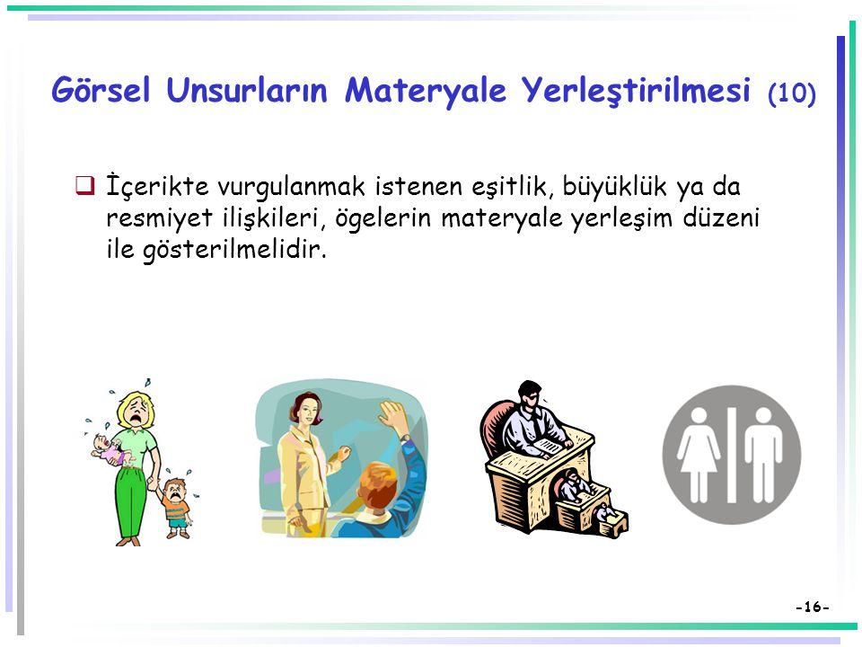 Görsel Unsurların Materyale Yerleştirilmesi (10)