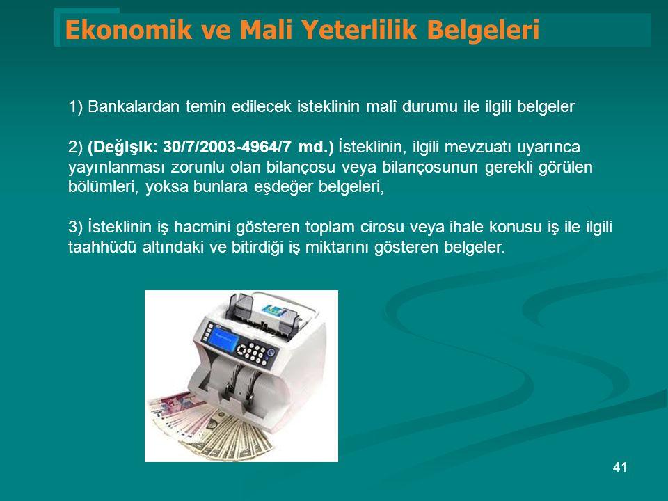 Ekonomik ve Mali Yeterlilik Belgeleri