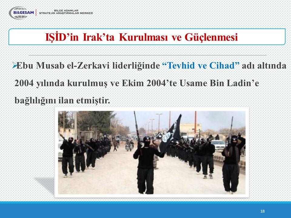 IŞİD'in Irak'ta Kurulması ve Güçlenmesi