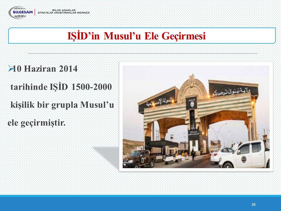 IŞİD'in Musul'u Ele Geçirmesi