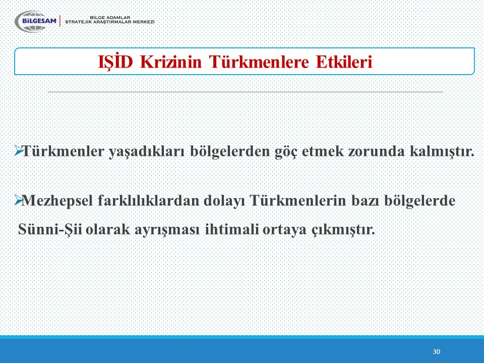 IŞİD Krizinin Türkmenlere Etkileri