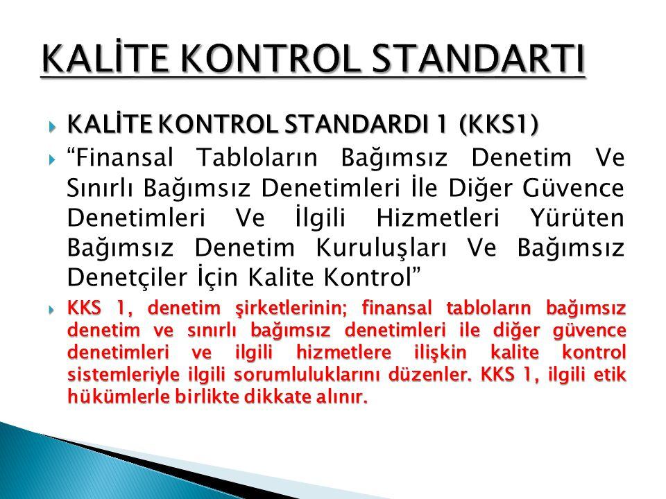 KALİTE KONTROL STANDARTI