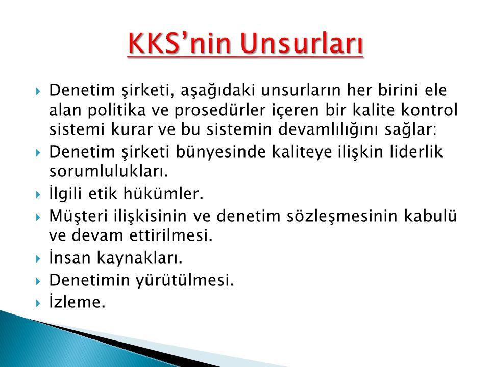KKS'nin Unsurları
