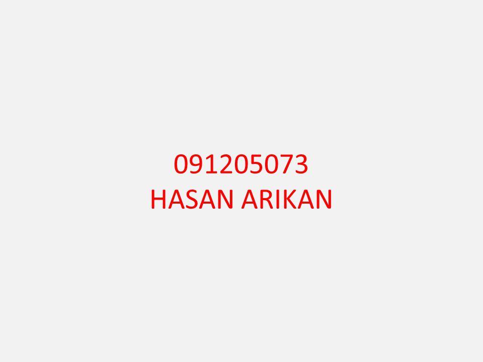 091205073 HASAN ARIKAN