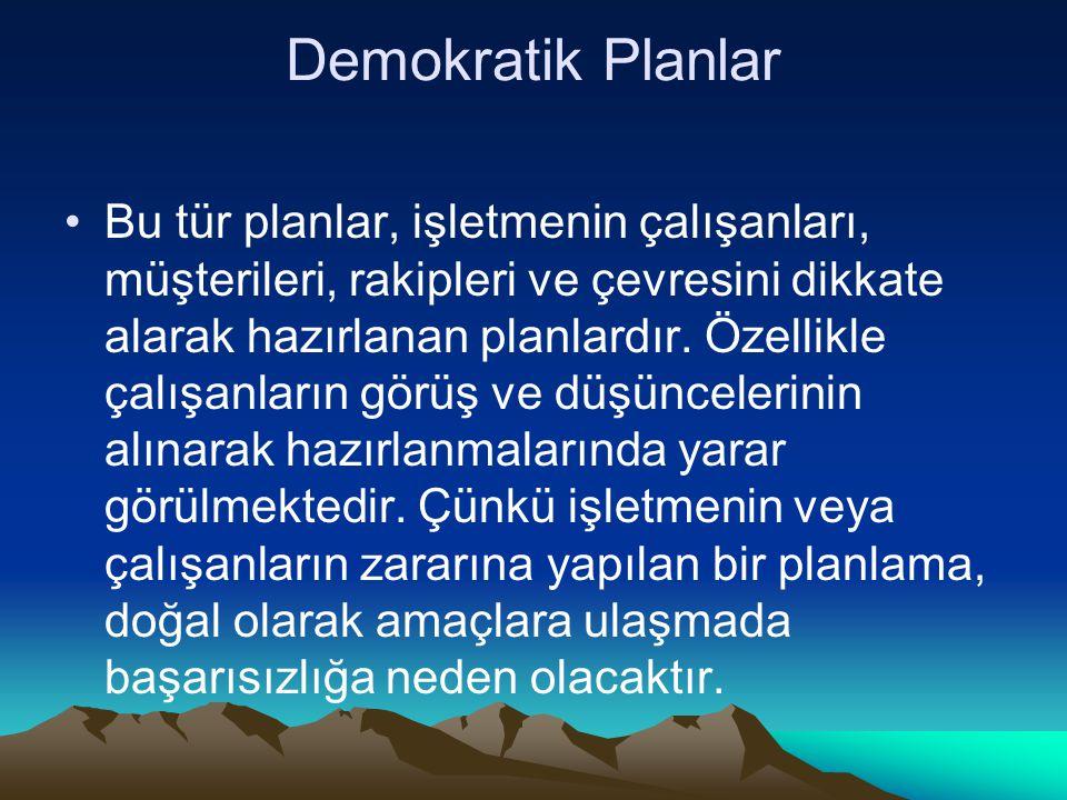 Demokratik Planlar