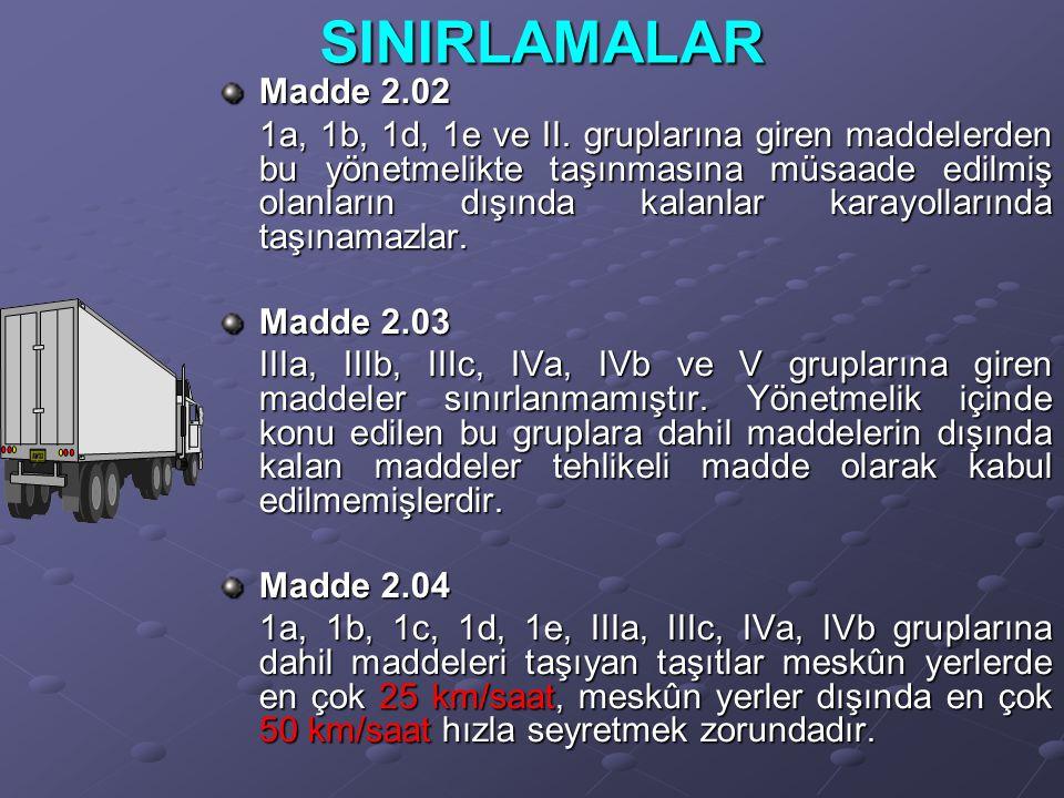 SINIRLAMALAR Madde 2.02.