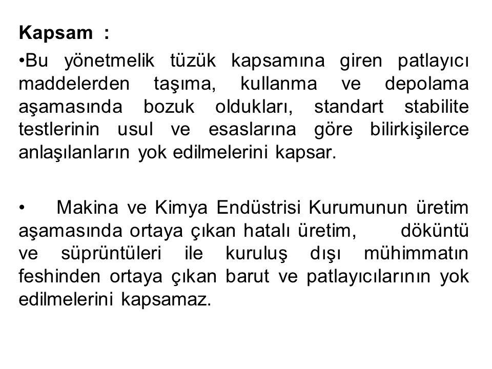Kapsam :