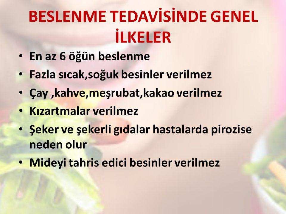 BESLENME TEDAVİSİNDE GENEL İLKELER